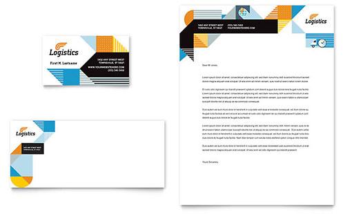 Logistics & Warehousing Business Card & Letterhead Template