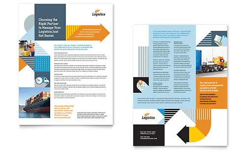 Logistics & Warehousing Sales Sheet Template