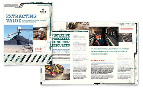 Mining Company Brochure Template - Pages