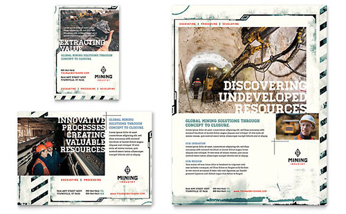 Mining Company Flyer & Ad Template Design