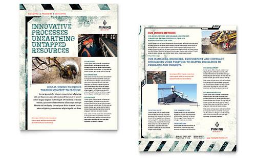Mining Company Datasheet Template