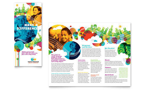 Youth Program Tri Fold Brochure Template