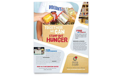 Food Bank Volunteer Flyer Template