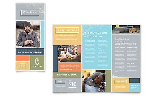 Homeless Shelter - Brochure Template