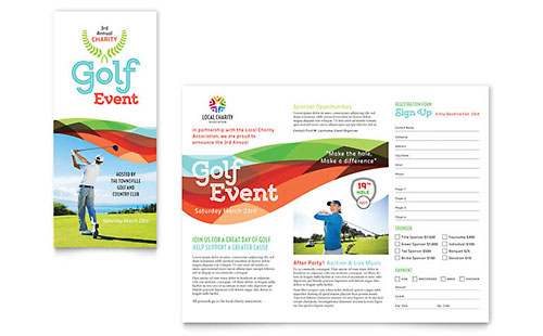 Charity Golf Event Brochure Template