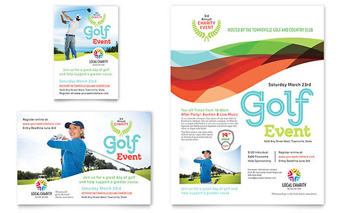 Charity Golf Event Flyer & Ad Template