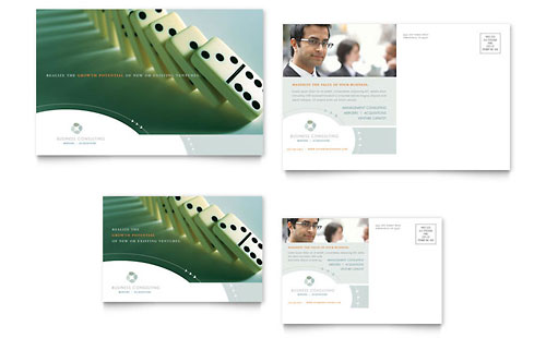 Financial services 6x4 postcard templates for 6x4 postcard template