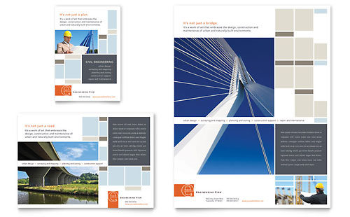 Civil Engineers Flyer & Ad Template