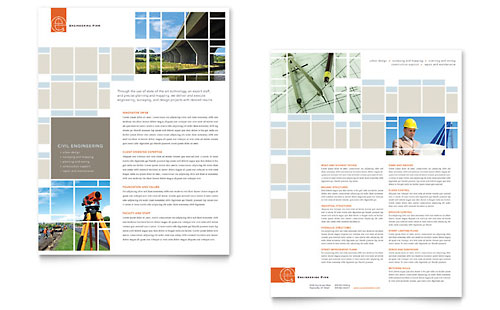 Architecture Design Sales Sheet Templates – Sales Sheet Template