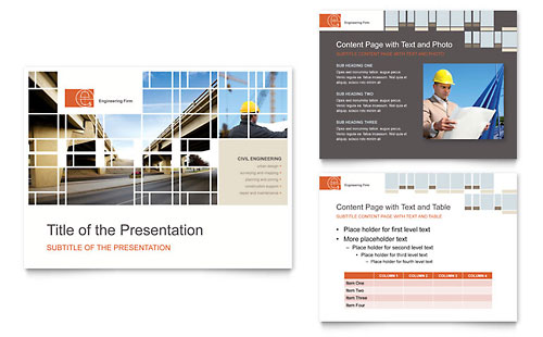 Civil Engineers PowerPoint Presentation Template