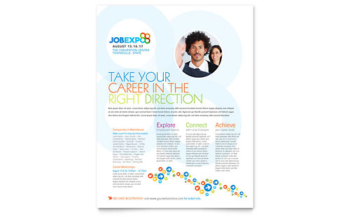 Job Expo & Career Fair Flyer Template
