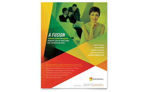 Public Relations Company - Flyer Template