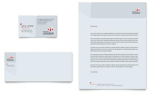 Corporate Business Business Card & Letterhead Template