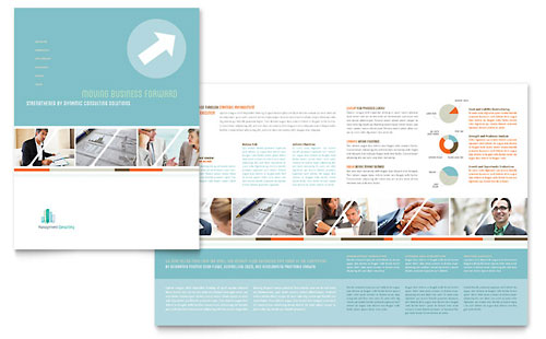 managed services brochure template - management consulting brochure template