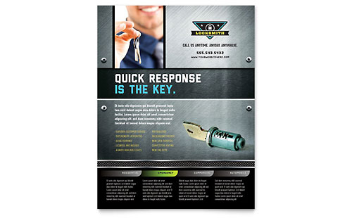 Locksmith Flyer Template