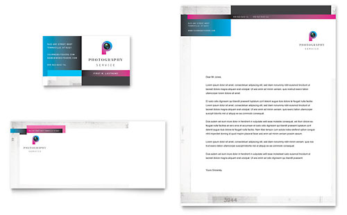 Photography Business Business Card & Letterhead Template