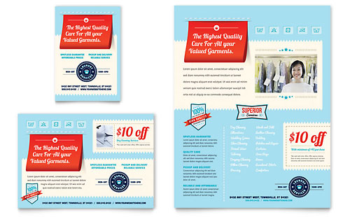 Laundry Services Flyer & Ad Template