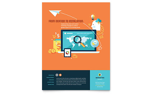 Advertising Company Flyer Template
