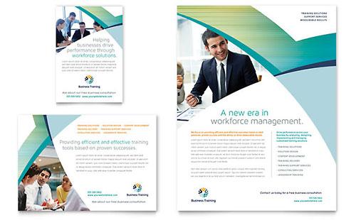 advertising brochure templates - education training flyers templates designs