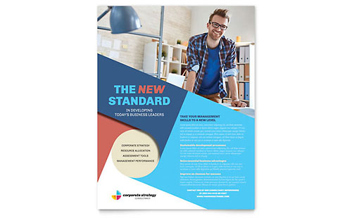 Corporate Strategy Flyer Template