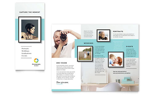 Photographer Professional Marketing Brochure Template