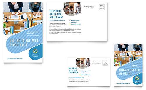 Employment Agency Postcard Template