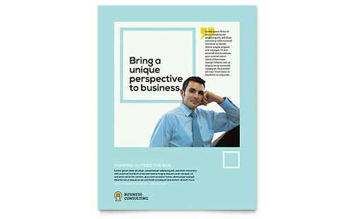 Business Consultants Leaflet Template