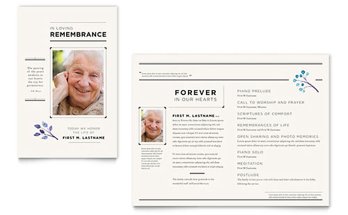 Funeral Services - Sample Newsletter Template