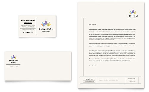 Funeral Services Business Card Template