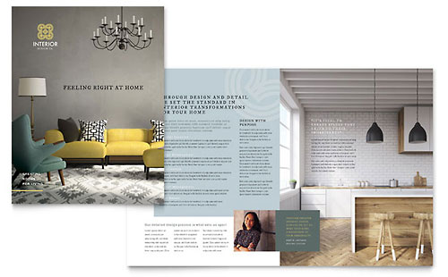 Interior Design Pamphlet Template