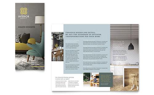 Interior Design Tri Fold Brochure Template