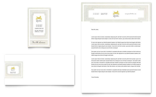 Pet Hotel & Spa Business Card & Letterhead Template