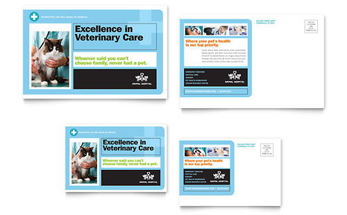 Animal Hospital Postcard Template