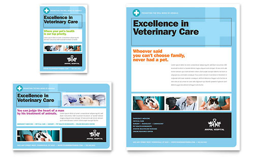 Animal Hospital Flyer & Ad Template