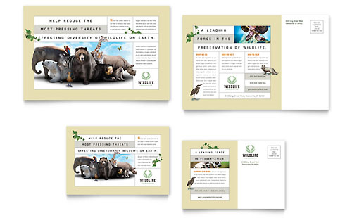 Nature & Wildlife Conservation Postcard Template