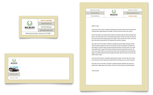 Nature & Wildlife Conservation Business Card & Letterhead Template