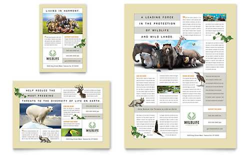 Nature & Wildlife Conservation Flyer & Ad Template
