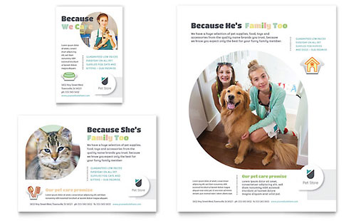 Pet Store Flyer & Ad Template