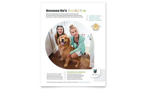 Pet Store Flyer Template