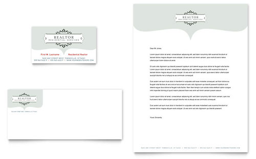 Realtor & Realty Agency - Business Card & Letterhead Template