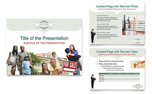 Realtor & Realty Agency PowerPoint Presentation Template