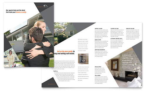 Contemporary modern real estate brochure template for Modern homes estate agents