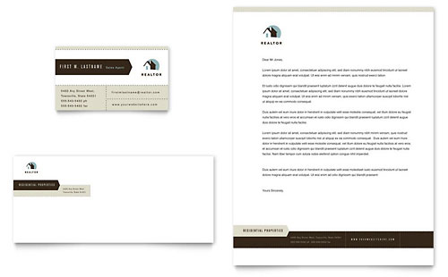 Residential Realtor Business Card & Letterhead Template
