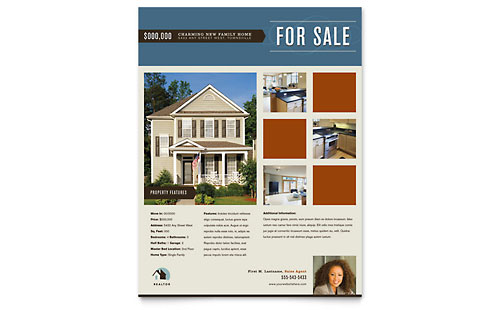 Real Estate Flyers – For Sale Ad Template