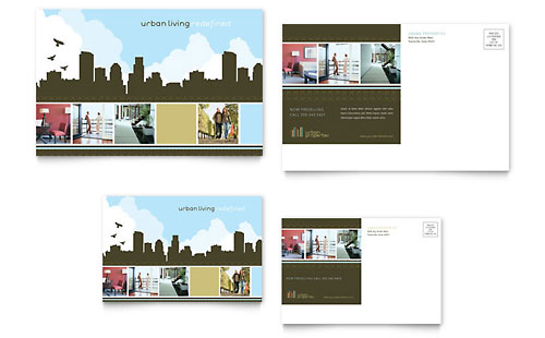 Urban Real Estate Postcard Template