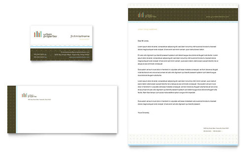 Urban Real Estate Business Card & Letterhead Template