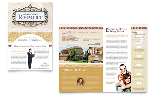 Real estate newsletters templates designs for Realtor newsletter templates