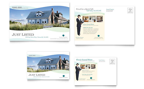Coastal Real Estate Postcard Template