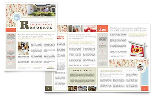 Newsletter Templates InDesign Illustrator Publisher Word