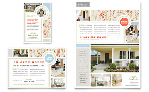 real estate flyers templates. Real Estate Home for Sale